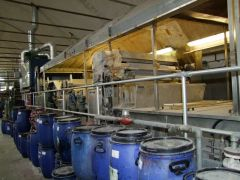 M-1704 ARIOLI CONTINUOUS WASHING LINE AFTER PRINTING FOR FABRICS YEAR 1995 WIDTH 1800mm