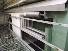 M-0001 MEZZERA + RAMALLUMIN CONTINUOUS WASHING LINE IN OPEN WIDTH FOR WOVEN FABRIC 3600mm YEAR 2000