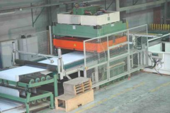 M-1943 BELT PUNCHING LINE YEAR 1996 (DYE CUTTER WITH CONVEYOR TRANSPORT)