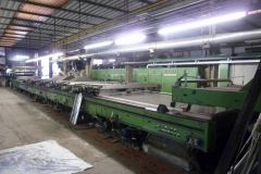 M-5193 REGGIANI FLAT BED PRINTING MACHINE WITH 6 COLORS YEAR 1973 WIDTH 2000mm GAS HEATED