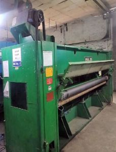 T-7943 DILO NEEDLE PUNCHING MACHINE – PRE AND FINISH NEEDLER, WIDTH 3600mm TO 4100mm, YEAR 1986