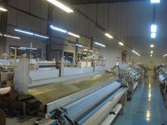 M-5064 TSUDAKOMA WIDE WIDTH WATER JET WEAVING LOOMS FOR ACETATE YEAR 2006 WIDTH 3400mm