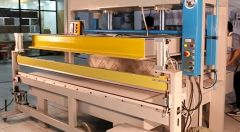 H-1289 SEMI-AUTOMATIC MATTRESS COMPRESSION MACHINE, PRESS PLATE TYPE