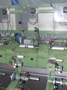 P-2498 STAHLE SE150ED DOUBLING MACHINE YEAR 1995 24 SPINDLES