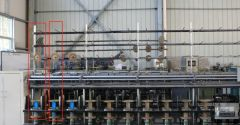 U-1369 RING TWISTER MACHINE RT-723 WITH NYLON BOBBINS, 10 INCH DIAMETER RING, 18 SPINDLES