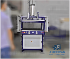 """V-1212-B PILLOW COMPRESSION/PACKING MACHINE – new model Aug 2020 (800 x 800 mm) {31.5 x 31.5""""} WITH DOUBLE BAND SEALING"""