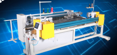 YY-1285 COMPUTERIZED CONTINUOUS EDGE FOLDING & SEWING MACHINE, PRODUCT WIDTH 1800 TO 2000mm